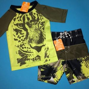 Boys Swimming Shirt and Trunks